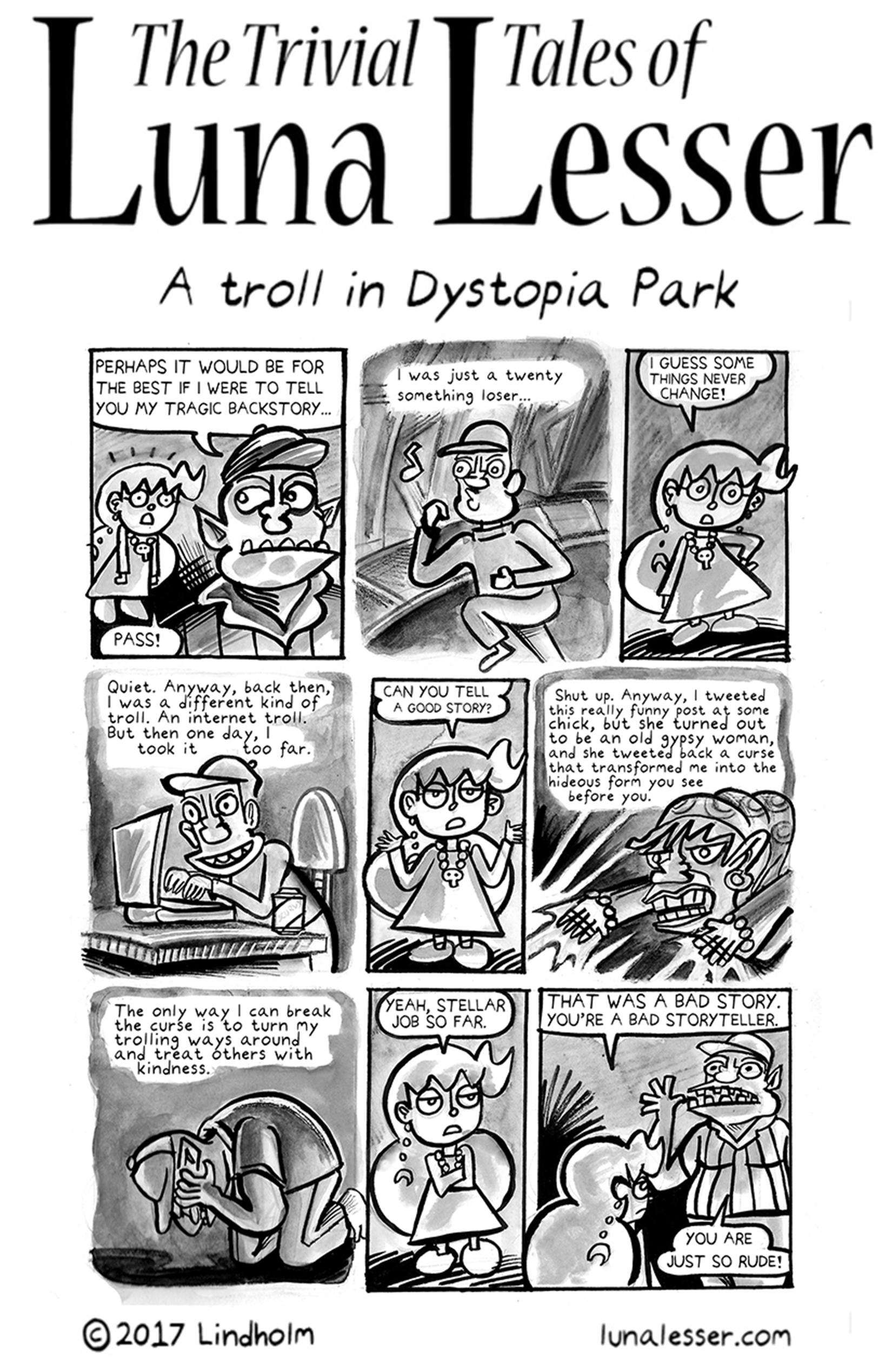A troll in Dystopia Park (3/8)